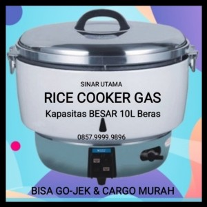 Harga rice cooker jumbo 10 ltr gas magic jar besar com masak nasi | HARGALOKA.COM