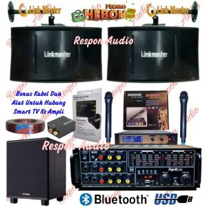 Harga paket speaker karaoke linkmaster sound system set   HARGALOKA.COM