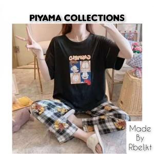 Harga setelan baju tidur piyama wanita import bermotif kartun harga grosir   | HARGALOKA.COM