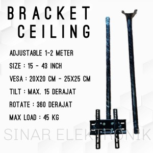Harga bracket tv lcd led ceiling gantung plafon 15 43 inch panjang 2   HARGALOKA.COM