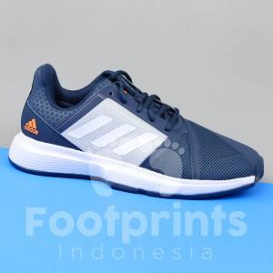 Harga sepatu tenis adidas court jam bounce navy tennis shoes courtjam | HARGALOKA.COM