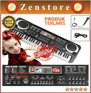 Harga piano anak   digital electronic keyboard bagus 61 keys   mq 6106     HARGALOKA.COM