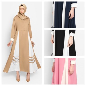 Harga zahret amirah fashion muslim baju gamis wanita terbaru dress   hitam all | HARGALOKA.COM
