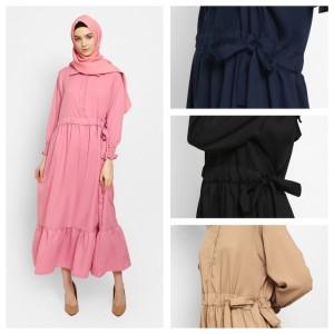 Harga zahret nayla fashion muslim baju gamis wanita terbaru dress   cokelat all | HARGALOKA.COM
