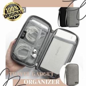 Harga travel gadget organizer travel pouch organizer gadget powerbank     HARGALOKA.COM