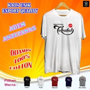 Harga kaos tshirt cotton pendek pria cowok dewasa sosro tobatlah | HARGALOKA.COM