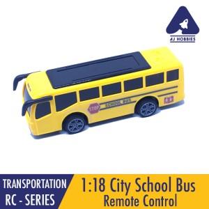 Harga city school bus 1 18 remote control model bis sekolah mainan anak   | HARGALOKA.COM