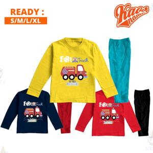 Harga piyama baju tidur anak laki laki gambar beko car firetruck   kuningturkish anak | HARGALOKA.COM