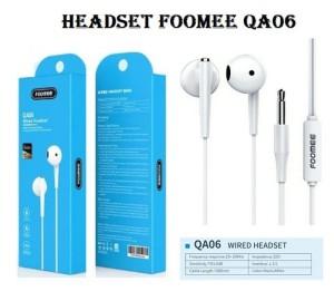 Harga earphone foomee qa06 hd stereo sound wired | HARGALOKA.COM