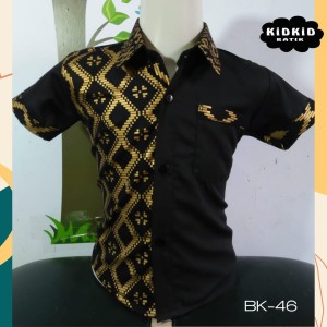 Harga baju batik anak laki kemeja batik anak laki kombinasi katun 0 14 th   0 1 | HARGALOKA.COM