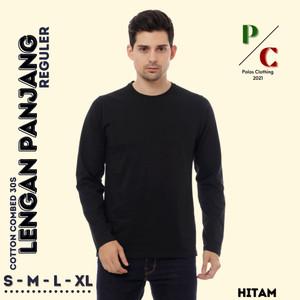 Harga kaos oblong baju polos cotton combed 30s   reguler pria lengan panjang   | HARGALOKA.COM