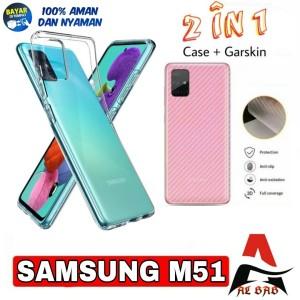 Harga softcase samsung m51 bonus garskin   clear hd premium | HARGALOKA.COM