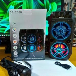 Harga speaker bluetooth dual sound full bass free mic speaker musik | HARGALOKA.COM