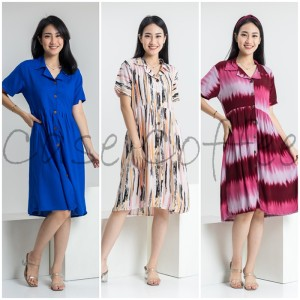 Harga home dress daster piyama wanita dewasa baju tidur katun motif terusan   contoh | HARGALOKA.COM