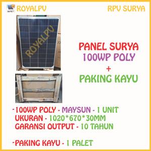 Harga panel surya 100wp solar panel 100wp solar cell 100wp poly   ms100p 36 | HARGALOKA.COM