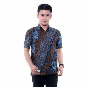 Harga kemeja batik pria modern hem batik jumbo baju anak laki laki seno biru   hem dewasa   HARGALOKA.COM