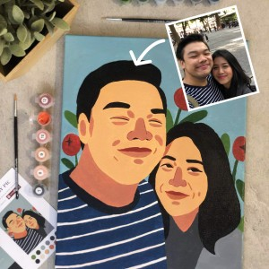 Harga custom paint by number illustration dari photo atau portrait   30x40 | HARGALOKA.COM