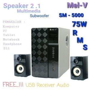 Harga speaker aktif komputer pc laptop notebook multimedia 2 1 sm 5000 | HARGALOKA.COM