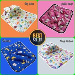 Harga perlengkapan tidur bayi matras perlak anti ompol bantal guling set   dino   HARGALOKA.COM