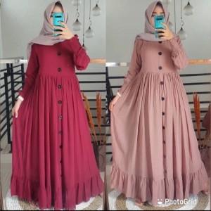 Harga g06 gamis terbaru baju muslim wanita elegan lengan panjang tren 2021   | HARGALOKA.COM