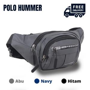 Harga tas pinggang pria selempang import multifungsi waistbag polo hummer   | HARGALOKA.COM