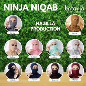 Harga ciput ninja niqab inner ciput cadar ciput masker hijab masker   silver abu | HARGALOKA.COM