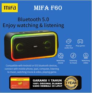 Harga mifa f60 bluetooth speaker 40w ipx7 waterproof rgb led | HARGALOKA.COM