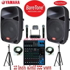 Harga paket sound system yamaha speaker baretone 15 inch aktif 500   HARGALOKA.COM