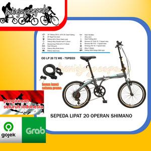 Harga promo termurah sepeda lipat odessy 20 34 shimano 7speed   bonus kunci   HARGALOKA.COM