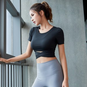 Harga crop top atasan zumba gym baju olahraga kaos bra top sport   hitam | HARGALOKA.COM