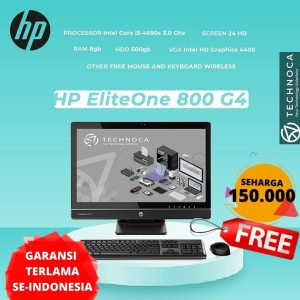 Harga komputer pc all in one hp eliteone 800 ci5 8gb 500gb garansi | HARGALOKA.COM