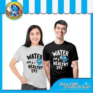 Harga baju kaos t shirt distro healthy life fashion wanita pria   biru ori   | HARGALOKA.COM