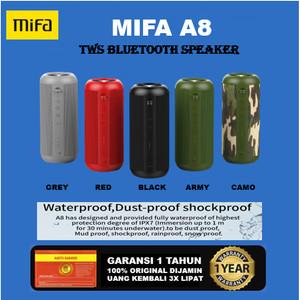 Harga mifa a8 tws bluetooth speaker 30w stereo sound ipx6 waterproof   hitam   | HARGALOKA.COM
