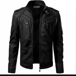Harga jaket kulit asli garut model dadu anak motor   hitam   HARGALOKA.COM