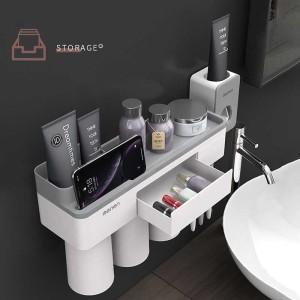 Harga rak gantung kamar mandi dengan tempat hp smartphone   | HARGALOKA.COM