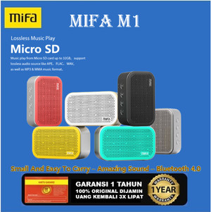 Harga mifa m1 bluetooth speaker with micro sd slot   | HARGALOKA.COM