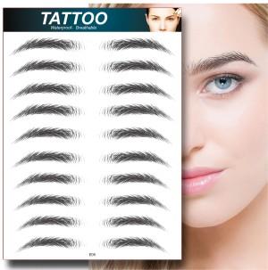 Harga eyebrow tattoo temporary tato sulam alis sticker stiker 4d waterproof   black   HARGALOKA.COM