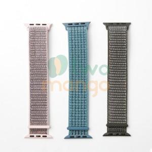 Harga strap apple watch 38 40 42 44mm seri 1 2 3 4 5 bahan nilon warna baru   | HARGALOKA.COM
