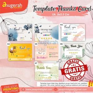 Katalog Kartu Ucapan Terima Kasih Full Colour Untuk Souvenir Nikah Katalog.or.id