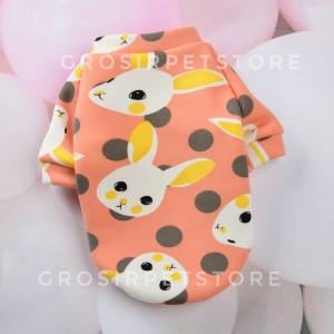 Harga 4 1 kaos baju anjing kucing hewan pet cat dog motif gambar pastel   rabbit pink | HARGALOKA.COM