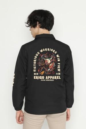 Harga erigo coach jacket idaina kaeru black   | HARGALOKA.COM
