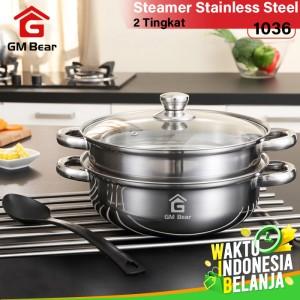 Harga gm bear panci steamer kuat stainless 1036   panci | HARGALOKA.COM