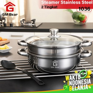 Harga gm bear panci steamer kuat stainless   | HARGALOKA.COM