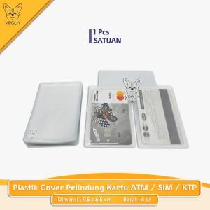 Harga plastik cover pelindung kartu atm sim ktp kartu   HARGALOKA.COM