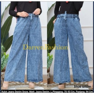 Harga kulot jeans denim snow celana panjang jeans kulot   blue | HARGALOKA.COM
