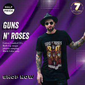 Harga kaos gnr guns and roses   33rd years anniversary t 39 shirt rock | HARGALOKA.COM