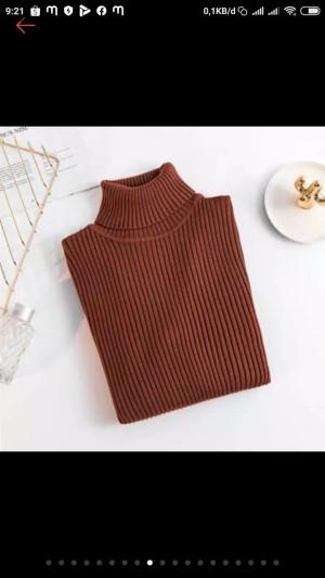 Harga atasan wanita baju rajut halus spandek daisy turtleneck   | HARGALOKA.COM