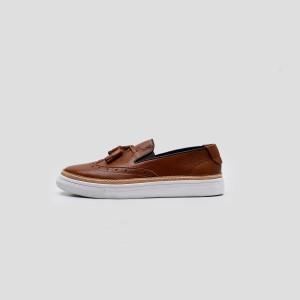 Harga portee goods mono hybrid wingtip sneakers cognac     HARGALOKA.COM