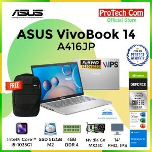 Harga laptop asus a416jp   core i5 1035g1 4gb 512gb mx330 2gb14 34 fhd ohs | HARGALOKA.COM