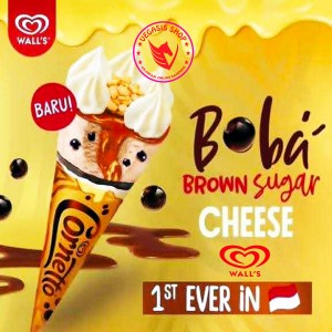 Harga es krim cornetto boba brown sugar cheese walls ice | HARGALOKA.COM